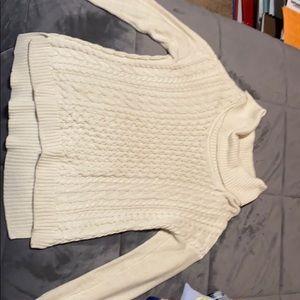 Cream colored tunic sweater